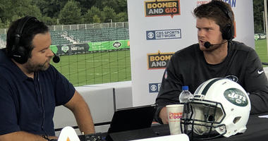 Sam Darnold talks with WFAN's Gregg Giannotti from Jets training camp in Florham Park, New Jersey, on Aug. 20, 2018.