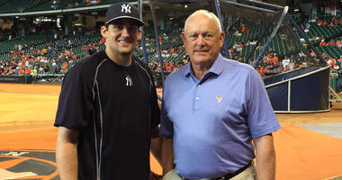 Nathan Eovaldi and Nolan Ryan in 2015