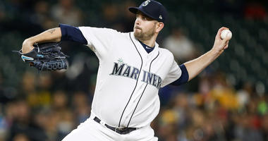 Sep 24, 2018; Seattle, WA, USA; Seattle Mariners starting pitcher James Paxton (65) throws against the Oakland Athletics during the third inning at Safeco Field. Mandatory Credit: Joe Nicholson-USA TODAY Sports
