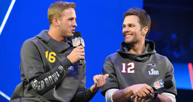 Jared Goff and Tom Brady