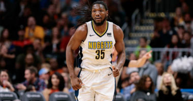 Kenneth Faried in the third quarter against the Chicago Bulls at the Pepsi Center in Denver.