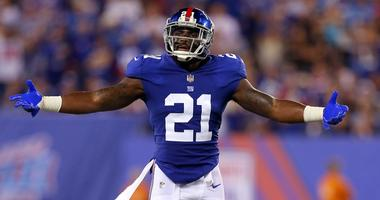 Landon Collins reacts during the second quarter.