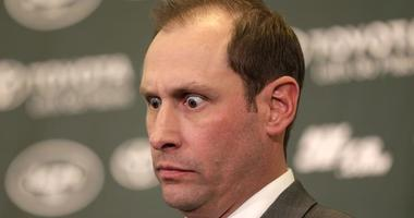 Jets coach Adam Gase speaks during a news conference in Florham Park, New Jersey, on Jan. 14, 2019.