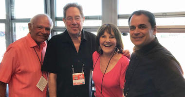 From left, Joe Castiglione, John Sterling, Suzyn Waldman and Tim Neverett