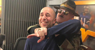 Al Dukes with Sgt. Slaughter
