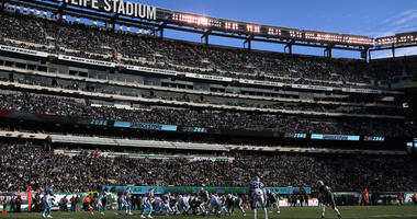 A general view is seen as the Jets take on the Carolina Panthers on Nov. 26, 2017, at MetLife Stadium. (Photo by Abbie Parr/Getty Images)