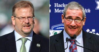 Jets general manager Mike Maccagnan and Giants GM Dave Gettleman