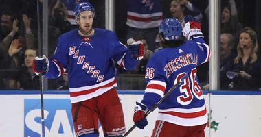 The Rangers' Kevin Hayes and Mats Zuccarello (36)