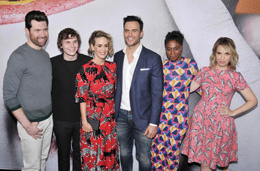 Billy Eichner, Evan Peters, Sarah Paulson, Cheyenne Jackson, Adina Porter and Leslie Grossman