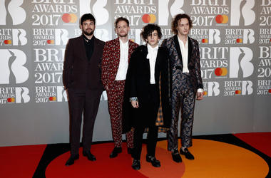 Ross McDonald, Matt Healy, George Daniel and Adam Hann of The 1975