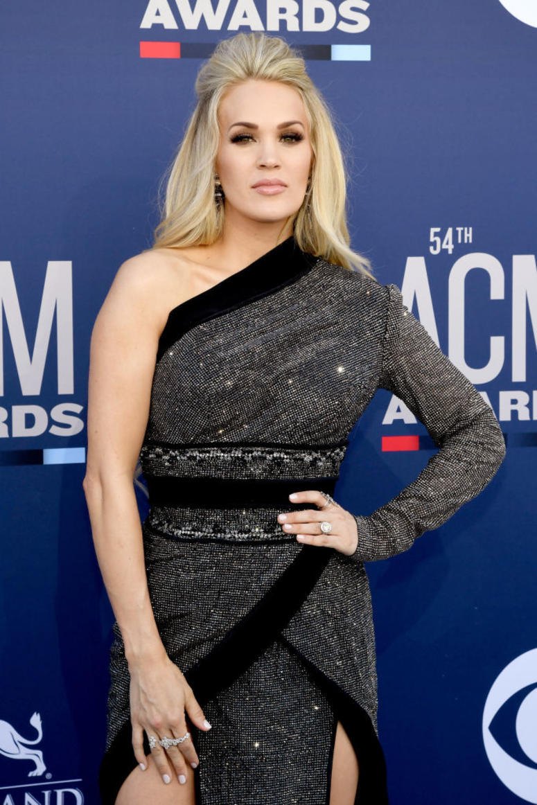 Carrie Underwood attends the 54th Academy Of Country Music Awards at MGM Grand Hotel & Casino on April 07, 2019 in Las Vegas, Nevada