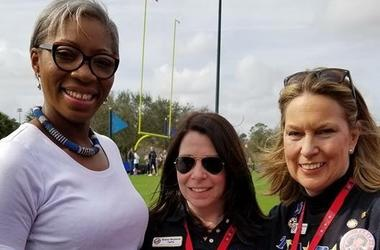 Tessy Ojo (CEO of the Diana Award) presenting the Diana Award to Diana Hosford of TAPS (going to the wedding) and the Founder and President of TAPS Bonnie Carroll on behalf of the TAPS organization. Tessy invited TAPS to the Royal Wedding and Diana will b