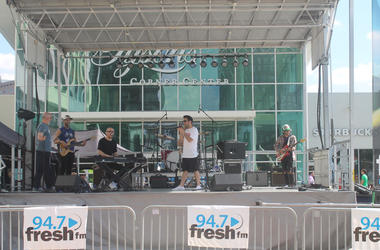 A Great Big World and Rozzi perform at 94.7 Fresh FM's annual Summer Concert Series at Tysons Corner Center Plaza.