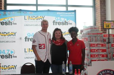 Erick Fedde, of the Washington Nationals, and the 94.7 Fresh FM Street Team spent Saturday morning with fans and listeners at the Harris Teeter in Alexandria.