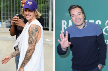 Justin Bieber and Jimmy Fallon