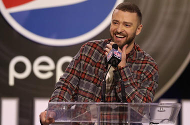 Justin Timberlake press conference super bowl