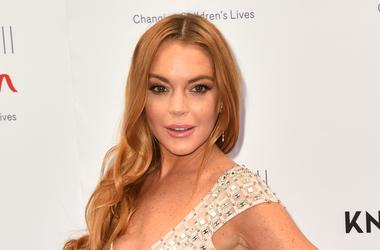 Lindsay Lohan attending the Butterfly Ball