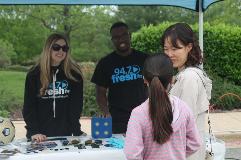 The 94.7 Fresh FM Street Team joins the community forTour De Cookie in Montgomery County, MD.