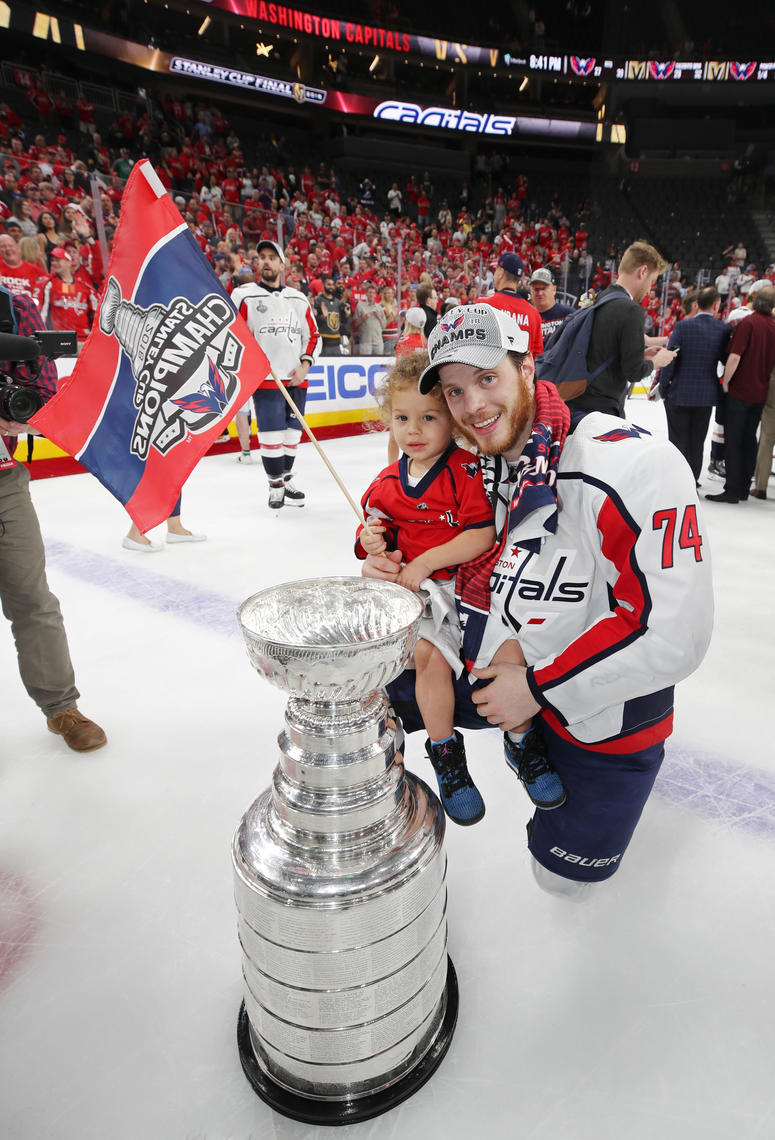 John Carlson #74 of the Washington Capitals stanley cup