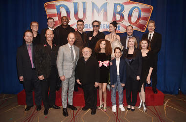 The cast of Dumbo