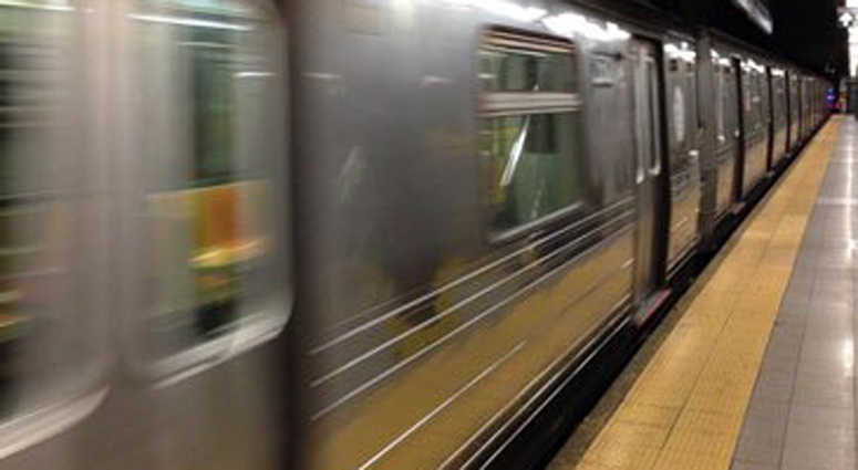 New York City subway train.