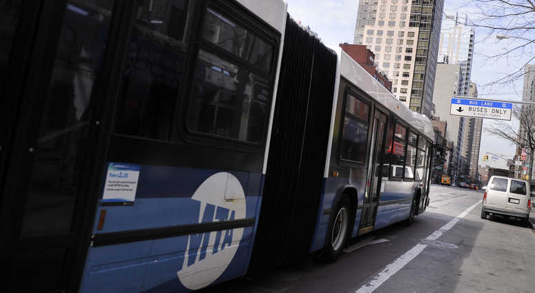 An MTA bus in New York City