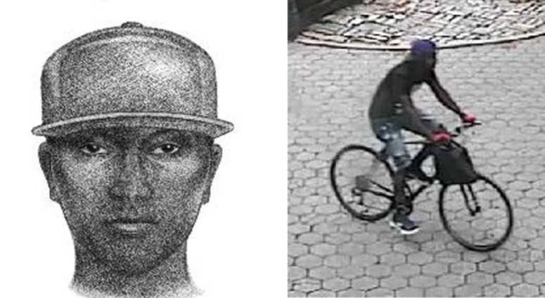 Cops are looking for a guy who hit another guy in the head with something resembling a brick or a rock.