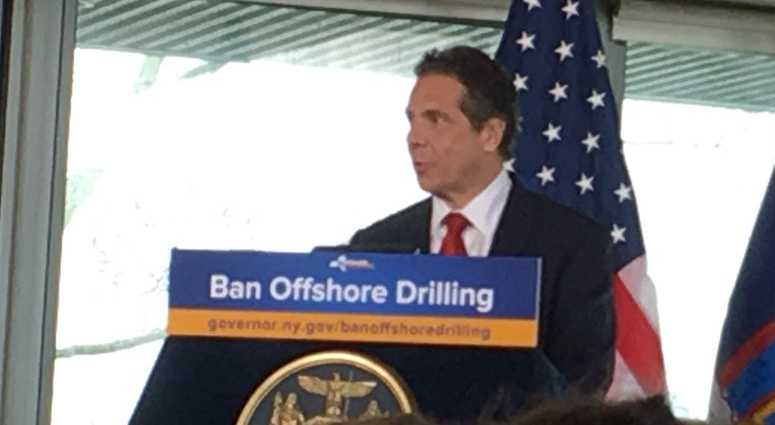 Gov. Andrew Cuomo says he will not allow the federal government to drill off of New York's coast.