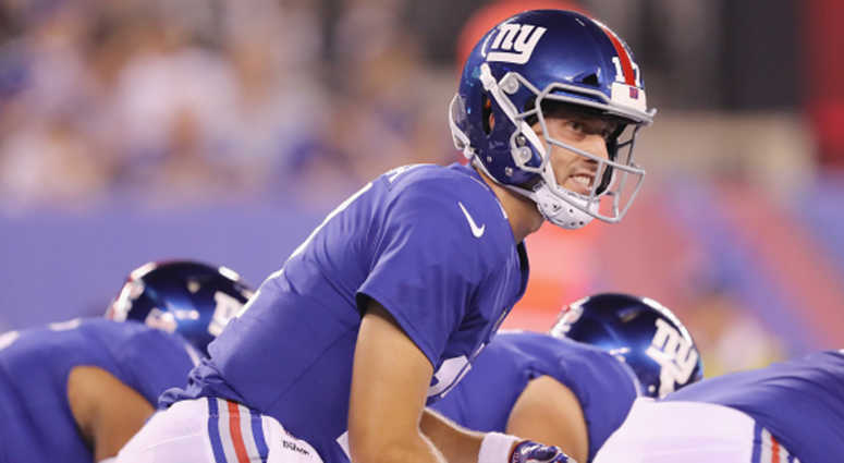 Kyle Lauletta #17 of the New York Giants