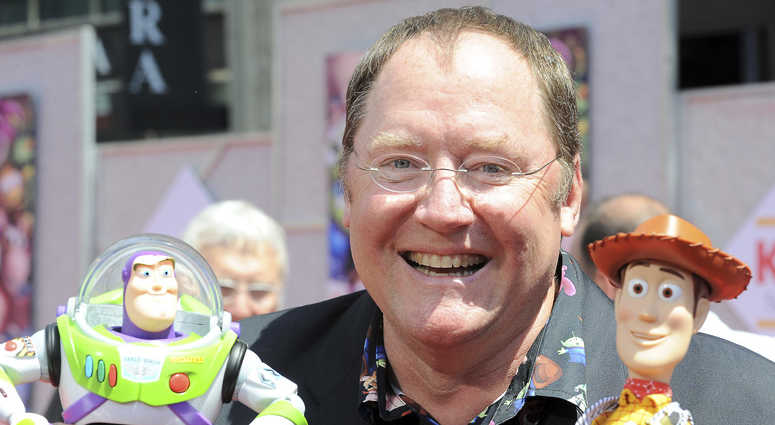 "FILE - In this June 13, 2010 file photo, John Lasseter arrives at the world premiere of ""Toy Story 3,"" at The El Capitan Theater in Los Angeles."