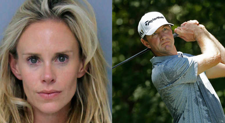 Lucas Glover and his wife Krista.