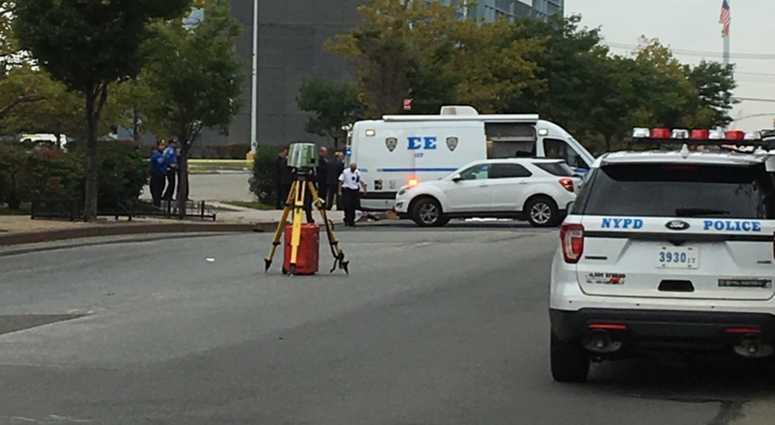 The scene of a deadly road rage shooting in Queens.