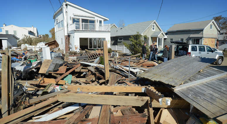 The aftermath of Superstorm Sandy on Sunday, November 4, 2012
