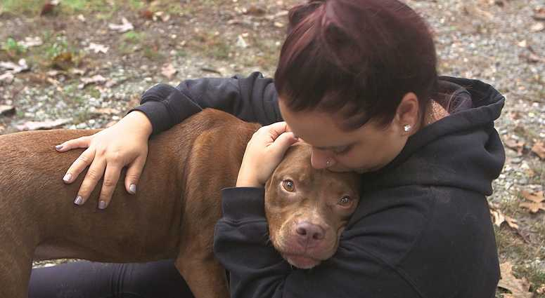 A New Jersey woman says hospital workers threatened to send her dog to the pound.