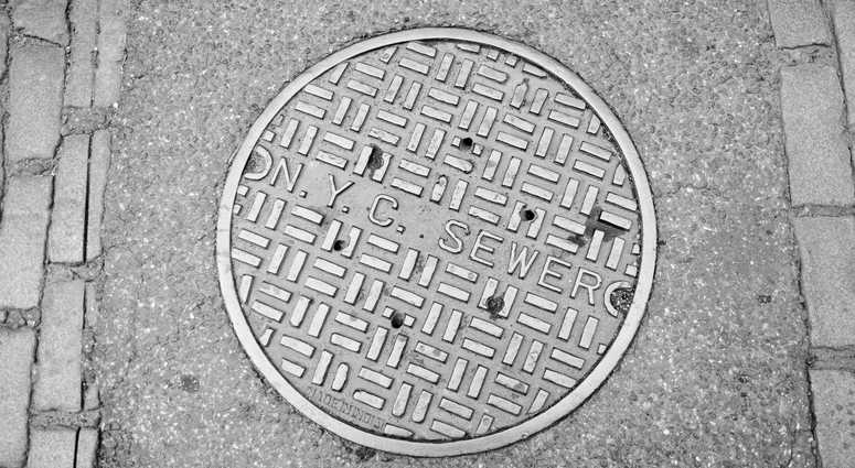 A New York City manhole.
