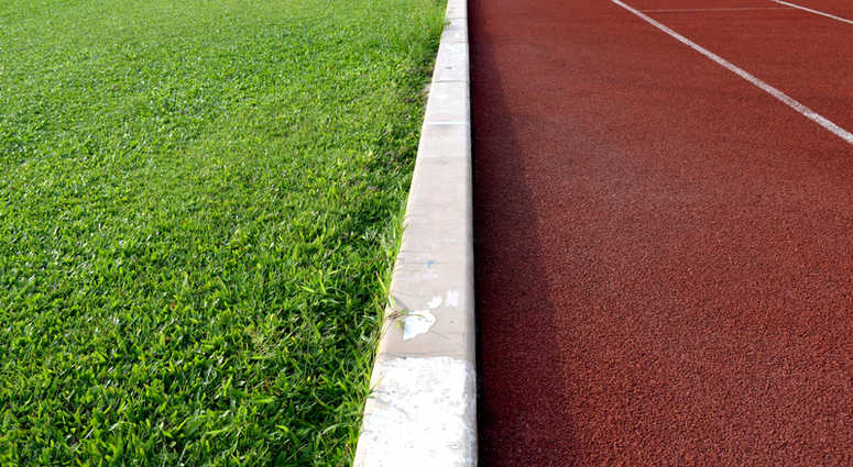 Track and football field file image.
