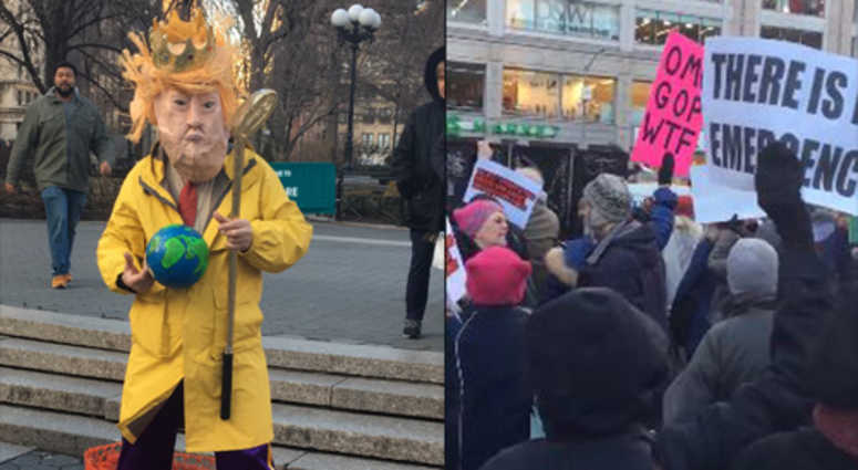 Union Square protest against Trump's national emergency declaration