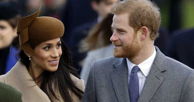 Britain's Prince Harry and his fiancee Meghan Markle arrive to attend the traditional Christmas Day service, at St. Mary Magdalene Church in Sandringham, England.