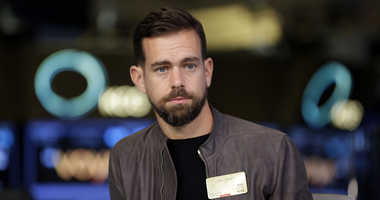 FILE- This Nov. 19, 2015, file photo shows Twitter CEO Jack Dorsey being interviewed on the floor of the New York Stock Exchange.