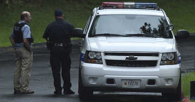 "Authorities respond to a shooting in Harford County, Md., on Thursday, Sept. 20, 2018. Authorities say multiple people have been shot in northeast Maryland in what the FBI is describing as an ""active shooter situation."""