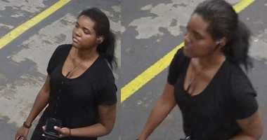 Cops are looking for a woman seen near the scene of a Midtown hotel fire.