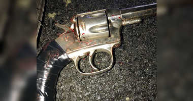 Cops say they recovered this gun after firing on a suspect in the Bronx.
