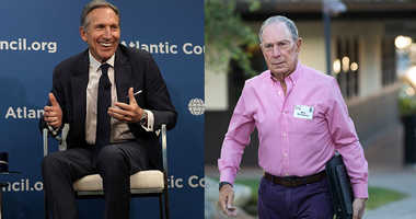 Howard Schultz and Mike Bloomberg