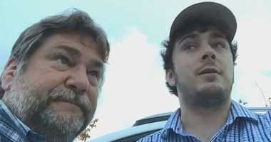Al and Ryan Jones covering Hurricane Florence