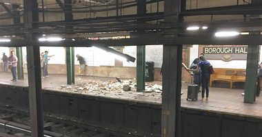 Subway Ceiling Collapse