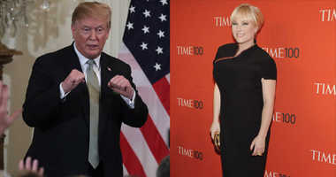 President Trump and Meghan McCain