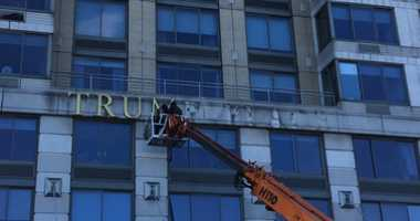 Trump name removed from Upper West Side condo.