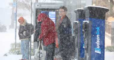 Season's first snowstorm causes utter chaos across area