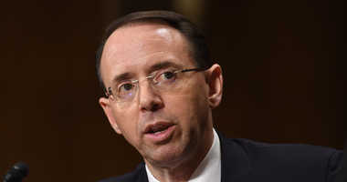 Mar 7, 2017; Washington, DC, USA; Rod Rosenstein testifies at his Senate Judiciary Committee confirmation hearing for Deputy Attorney General.