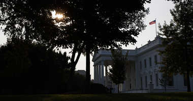 An American flag above the White House flies at full-staff less than 48 hours after the death of Sen. John McCain, Monday, Aug. 27, 2018, in Washington.
